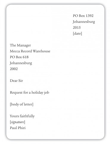 Informal cover letter examples in a cover letter the salutation is spiritdancerdesigns Image collections