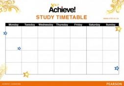 X-kit Achieve study timetable template   X-Kit Achieve!